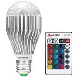 Warmoon E27 LED Lampe 10W RGB Licht Glühbirne Dimmbar mit