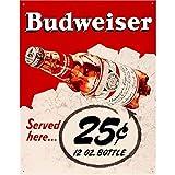 FlowerBeads Vintage Bierschilder Metallplakat Bar Pub Club Cafe Home Teller für Wanddekoration Kunst Eisen Gemälde 20 x 30 cm