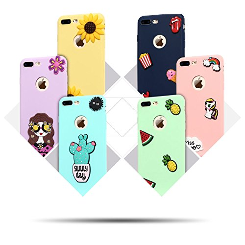 6 * Cover iPhone 7 Plus (5.5 pollici) Spiritsun iPhone 7 Plus Custodia TPU Moda Elegante Case Cover Soft Silicone Back Cover Protezione Bumper Funzione Shell Morbida Flessible TPU Cover Per iPhone 7 P 6 Color