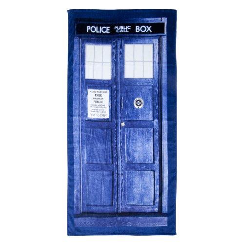 Dr Who Tardis Navy Blau Badetuch