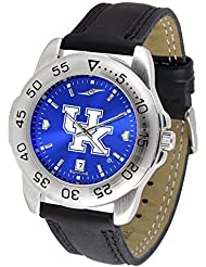Kentucky Wildcats NCAA AnoChrome Sport Mens Watch (Leather Band) by SunTime
