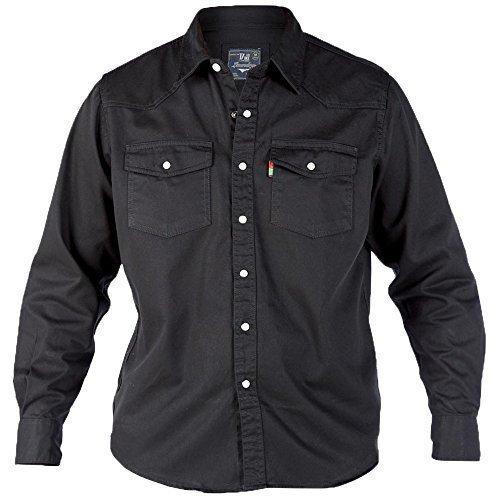 Jeans Hommes T-shirt By D555 Duke Grand King Size Noir - OCCIDENTAL
