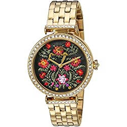 Juicy Couture Women's 'J' Quartz Stainless Steel Casual Watch, Color:Gold-Toned (Model: 1901516)