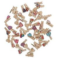 chiwanji 50pcs 35mm Mini Colorful Wooden Photo Paper Peg Pin Clothespin Craft Clips