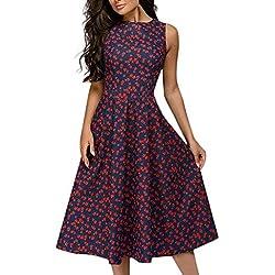 Vectry Vestidos Coctel Vestido para Boda De Día Vestidos Elegantes para Niña Vestidos Casuales Sueltos para Mujer Vestidos Cortos Verano 2019 Vestidos Rojo