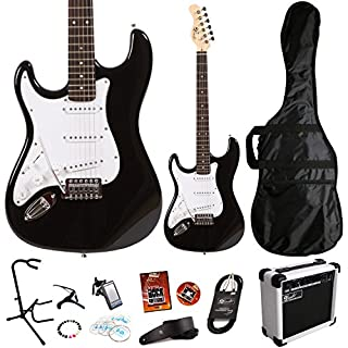Lindo *Deluxe Pack* Black Left Handed ZST Series Electric Guitar and SA-15 15w Amp Pack *Includes an extra 11 Accessories* (B006JNAMUA) | Amazon price tracker / tracking, Amazon price history charts, Amazon price watches, Amazon price drop alerts
