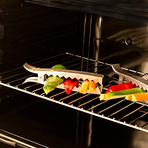51kptlJyCNL - MS-Tec Grill Zangen Set - Premium Gemüse Grillzange - Edelstahl - Grillzubehör - 4 Stück