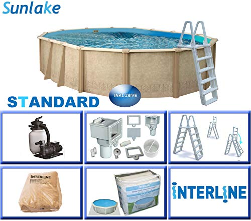 Interline 55000120 oval Pool Sunlake Komplett Set