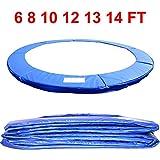 Almohadilla de repuesto para cama elástica de Greenbay con resorte de seguridad, relleno de red de, falda y escalera, cubre de la lluvia, de 183 cm, 244 cm, 305 cm, 366 cm, 397 cm y 427 cm, Blue Pad, 2,4 m