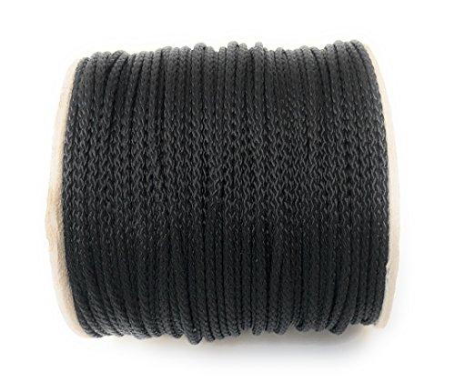 Viva Nature Polypropylen Seil\ PP Seil \ 3 mm 50m Rolle Flechtleine Reepschnur Polypropylenseil Tau Festmacher Schnur Tauwerk Universalseil Kordel (schwarz)