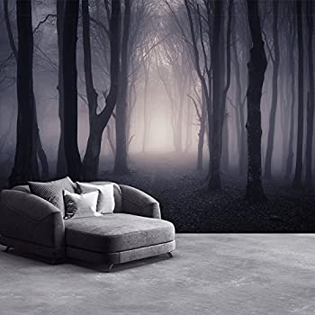 Dark Misty Woods Wall Mural Forest Trees Photo Wallpaper Bedroom Home Decor Available In 8 Sizes Gigantic Digital