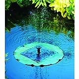 Fontaine solaire nénuphar flottante