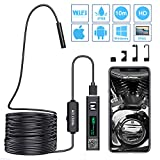 Endoscope Wifi Endoscopique Caméra 1200P HD IP68 Etanche Caméra d'inspection Compatible avec IOS Android Smartphone, Tablette, Ordinateur Portable MAC