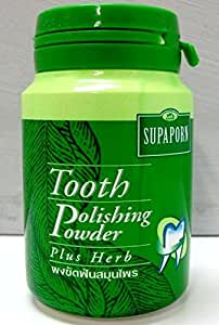 SUPAPORN Toothpaste Thai Herb Tooth Polishing Powder Herb Fresh Breath 90 g. x 3 Bottles by HODAR THAILAND