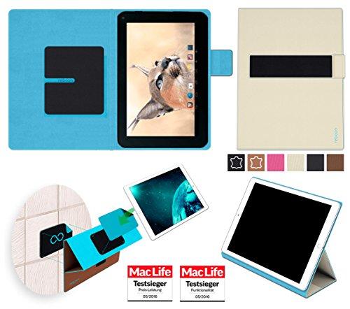 reboon Hülle für Blaupunkt Endeavour 1001 DVBT Tasche Cover Case Bumper | in Beige | Testsieger