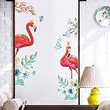 JUNMAONO Flamingo Wandaufkleber//Wandbild Aufkleber/Wand Poster/Wandgemälde/Wandbilder/Wandtattoo/Pinupbild/Beschriftung/Pad einfügen/Tapete/Tapezieren/Tapeten/Wand Zeitung/Wandmalerei/Haftnotiz/Fühlen Sie sich frei zu kleben/Instant Aufkleber/3D-Stereo-Wandaufkleber