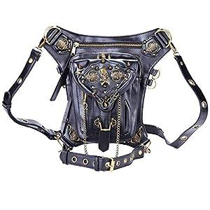 Retro Bag Steam Punk Retro Rock Gothic Goth Shoulder Waist Bags Packs Victorian Style for Women Men + Leg Thigh Holster Bag   2