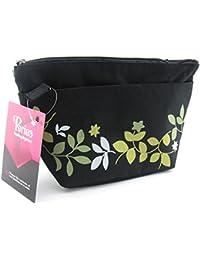 Periea - Sac de rangement/Pochette/Organisateur intérieur pour sac à main, 7 Poches 25x15x6cm - Carla noir