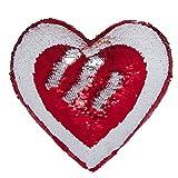 Ataya Mermaid Throw Pillow con inserto, 2 colori a forma di cuore Reversible Decorative Paillettes Cushion Pillow