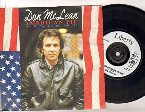 DON MCLEAN - AMERICAN PIE - 7 inch vinyl / 45 (Don Mclean American Pie Vinyl)