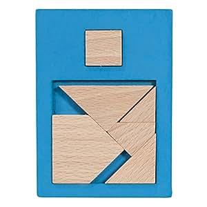 Fridolin - 17102 - Puzzle - Test de QI Carré 1 - Bleu