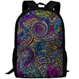 HOJJP HandtascheMost Durable Lightweight Awesome College Bags Daypack - Psychedelic