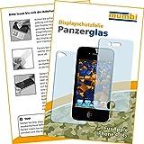 2x mumbi Panzerglasfolie iPhone 4/4S Glasfolie Hartglas 9H (1 x VORNE und 1 x RÜCK Folie)