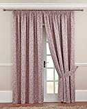 """Symphony 3"""" pencil pleat lined curtains Heather 66x90"""""""