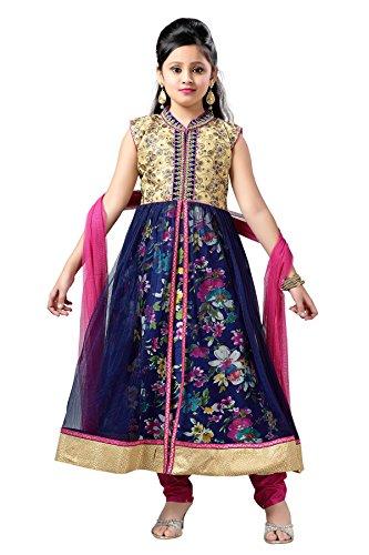 Aarika Girl's Party Wear Churidar Suit Set (1594-RANI_24_4-5 Years)