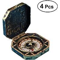 STOBOK 4pcs einzigartiges Weihnachtspiratenkapitän-Kompass-Spielzeug
