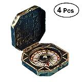 STOBOK 4 stücke Pirate kompass Spielzeug Tasche antik Messing kompass Party kostüm kostüm