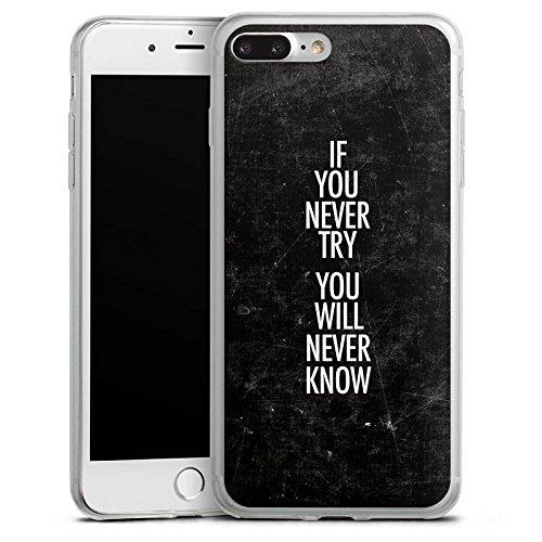 Apple iPhone 8 Slim Case Silikon Hülle Schutzhülle Sprüche Motivation Fitness Silikon Slim Case transparent