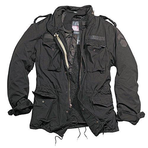 Trooper M65 Regiment Jacke, schwarz, Size XL + UD Thinsulate Beanie