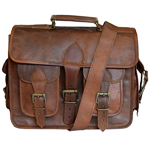 Madosh, Vintage Style Taschen aus echtem Leder gepolsterte Kamera Objektiv Fall DSLR Sony Nikon Umhängetasche
