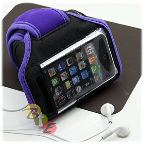 Purple Velcro Armband for all Models of iPod/(including iPod Video 4G/3G/iPod Mini/iPod Nano (All Generations) – iPod