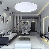 VINGO 16W LED Deckenbeleuchtung rund Deckenlampe Starlight Effekt schön Wohnraum Wohnzimmer Lampe Weiß
