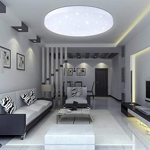 Bright ceiling light amazon vingo mordern beautiful led ceiling light starlight corridor wall lamp bathroom light living room 16w cool white round mozeypictures Choice Image