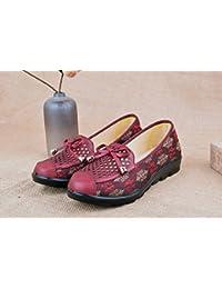 GTVERNH Old Beijing Zapatos De Tela Hembra Verano Malla Zapatos  Transpirable Ocio Loose Antideslizante Media Y 051953efec6b