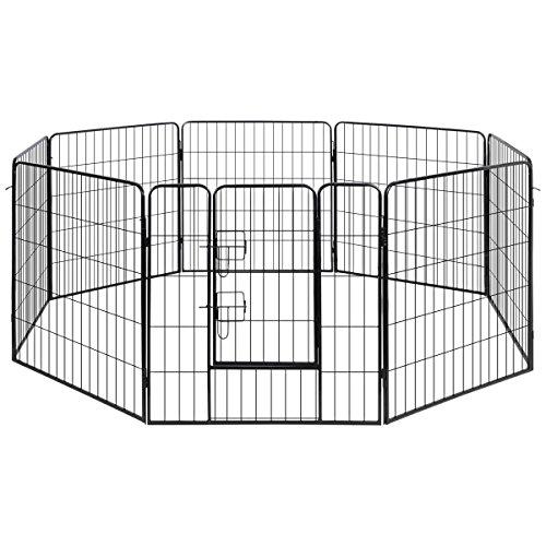 vidaXL Box per cani &animali domestici gabbia canile 8 (Canile Pannello)