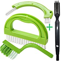 YiCoo Tile Joint Brush 4 in 1 Joint Scrubber Multifunction Kitchen Bathroom Cleaning Brush Grout Mould Cleaner Brush Green