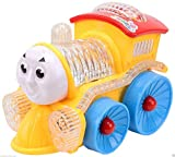 #8: Vivir High Quality 4D Flashing Lights and Musical Funny Locomotive Engine Bump and Go Action Train Toys for Kids ( Toys for 2 Year Old Boy and Girl )