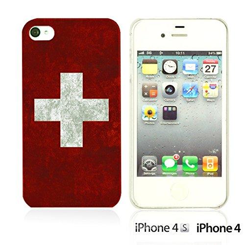 OBiDi - Flag Pattern Hard Back Case / Housse pour Apple iPhone 4S / Apple iPhone 4 - Germany Switzerland