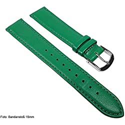 Miami Replacement Band Watch Band kalf nappa Strap green 22566S, width:13mm