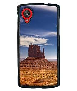 PrintVisa Designer Back Case Cover for LG Nexus 5 :: LG Google Nexus 5 :: Google Nexus 5 (Historical Place Dry Path Ragistaan Desert )