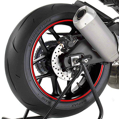 Motorrad Felgenrandaufkleber Yamaha WR 125 X Rot -