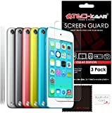 [Pack of 3] TECHGEAR® Apple iPod Touch 6 & iPod Touch 5 (16GB 32GB 64GB 128GB) CLEAR LCD Screen Protector Covers [iPod Touch 5th & 6th Generation]