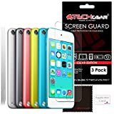 [Pack of 3] TECHGEAR� Apple iPod Touch 6 & iPod Touch 5 (16GB 32GB 64GB 128GB) CLEAR LCD Screen Protector Covers [iPod Touch 5th & 6th Generation]