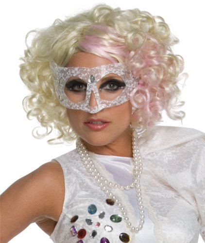 Lady Blonde Perücke (Rubies 51549 - Perücke Lady Gaga, blond-pink)