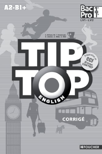 TIP-TOP ENGLISH 1re Tle Bac Pro Corrigé