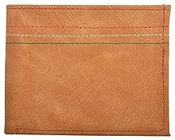 Exotique Mens TAN Faux Leather Wallet (WM0009TN)